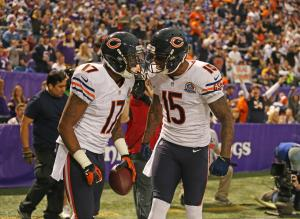 Bears WR's Brandon Marshall & Alshon Jeffery remain Questionable for Sundays game vs the 49ers. Photo: Nuccio DiNuzzo/Chicago Tribune