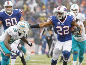 Look for #22 RB Fred Jackson to continue his strong season vs the under-achieving Vikings. Photo: AP
