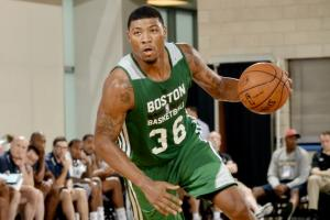 #36 Oklahoma St. star and Celtic lottery pick Marcus Smart has the recipe for a huge sleeper season should the Rajon Rondo rumors of a trade come to fruiyion. Photo: Fernando Medina/Getty Images