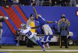 """The Catch"", by Giants WR Odell Beckham Jr. last week could possibly be one of the top ten best of all time writes The Furnace. Photo: NJ.com"