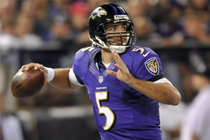 The Furnace writes that #5 Joe Flacco and the Ravens defense will have no problem containing either of the Texans backup QBs this week. Photo: AP