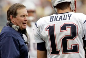 """Forget the air pressure in the footballs Tom. I have other things up my sleeve..."" PHOTO: AP"