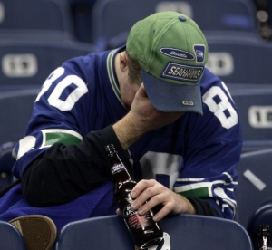 For this and all Seahawks fans, there's not much more to say... Photo: AP